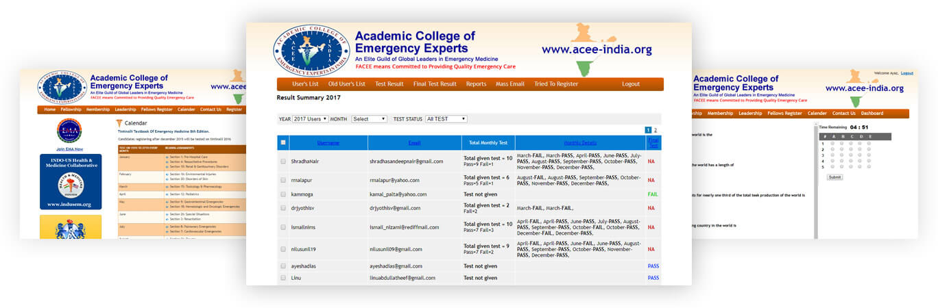 ACEE-India: Academic College of Emergency Experts