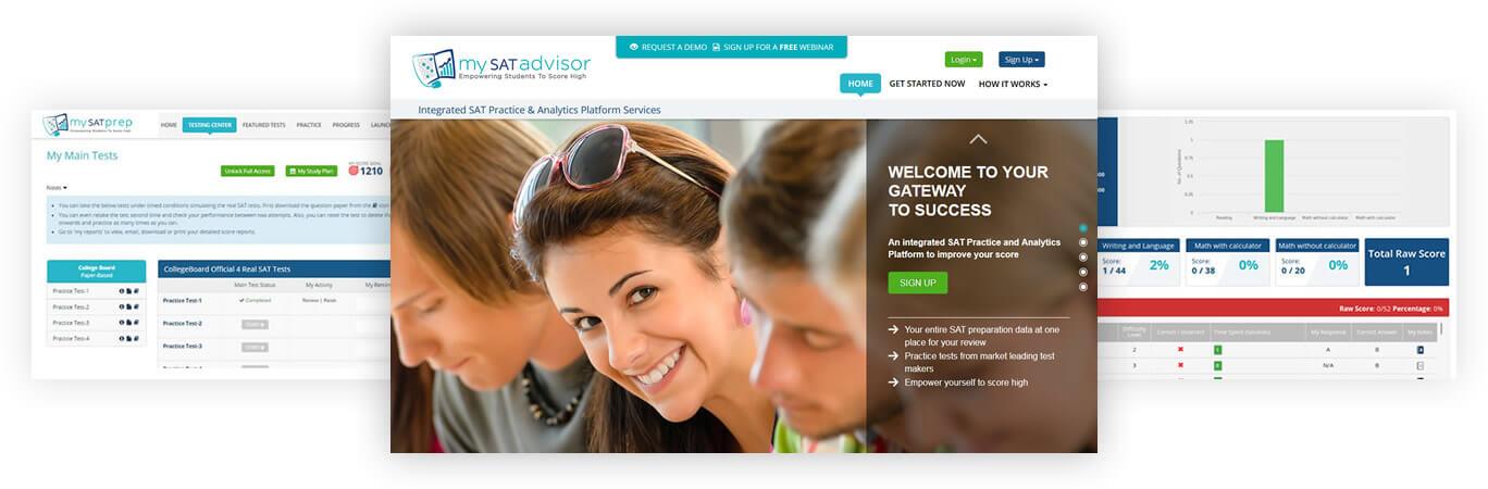 Integrated SAT Practice & Analytics Platform Services