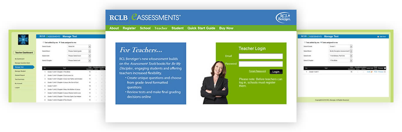 RCLB Teachers Login & Manage Tests