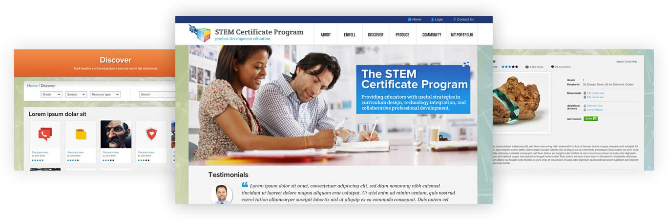 STEM Certificate Program - product development education