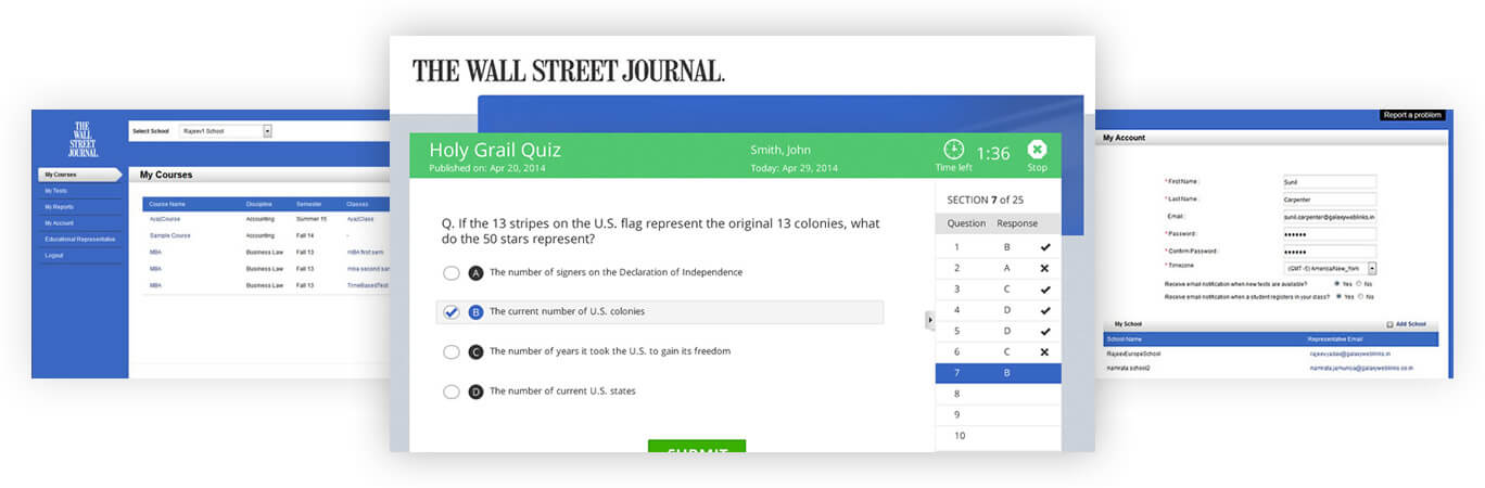 WSJ Account, Quiz and Courses