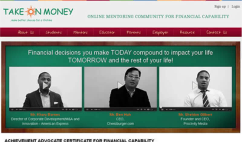 Take On Money - an Online Mentoring Community
