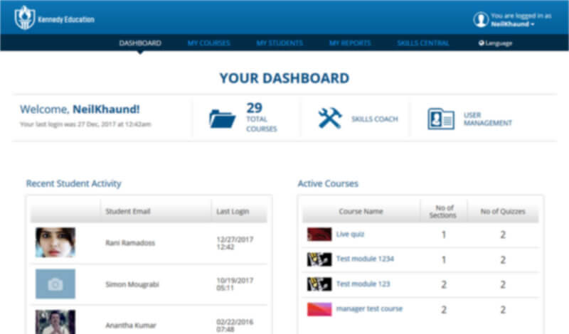 Kennedy Education Dashboard