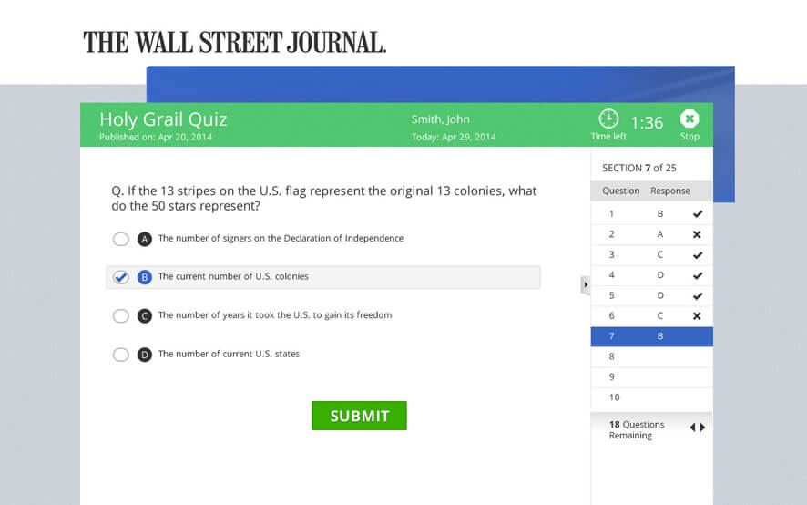 WSJ Weekly News Quiz App