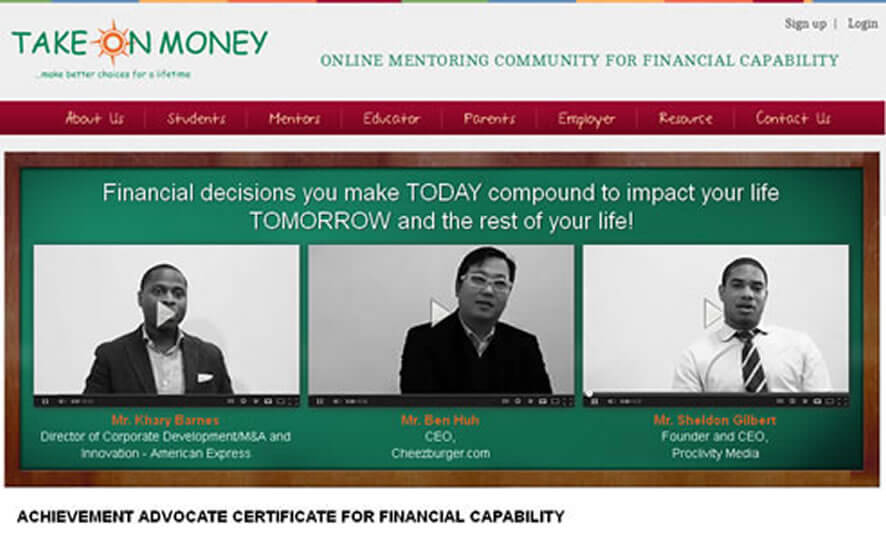 Take On Money an Online Mentoring Community