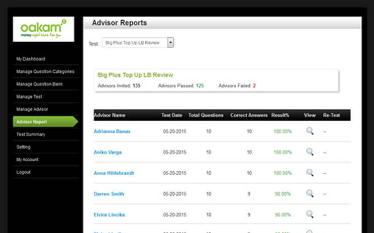 Oakam: Advisor Reports